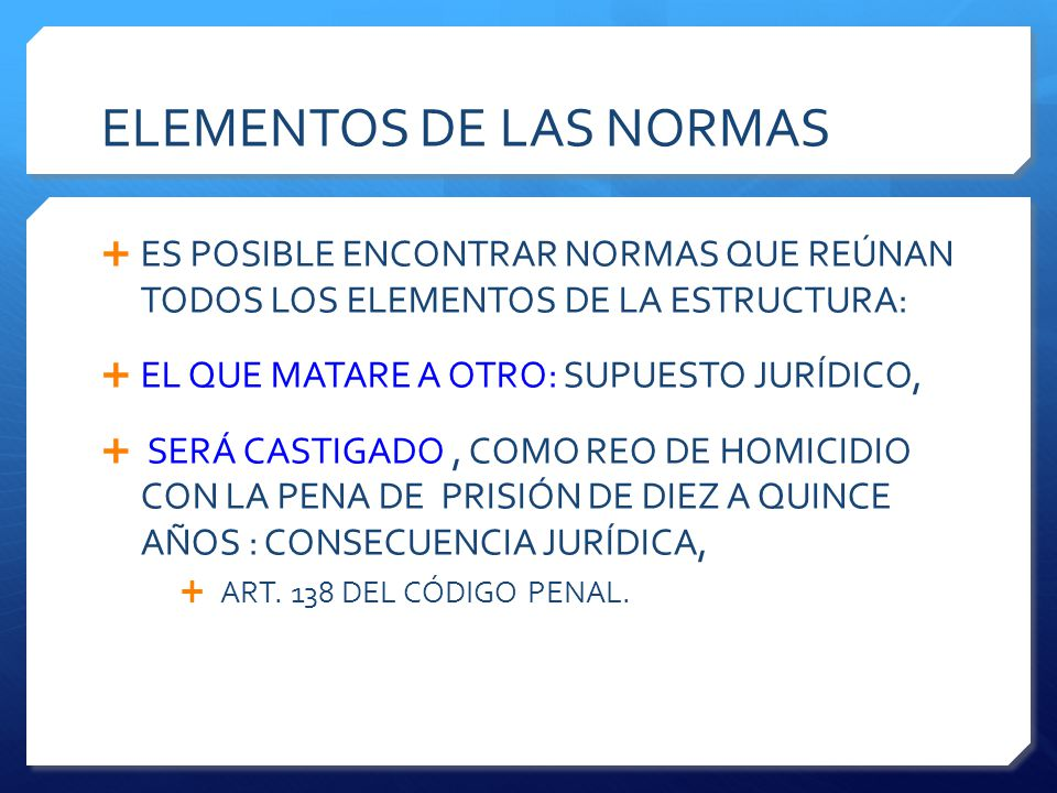 ELEMENTOS DE LAS NORMAS