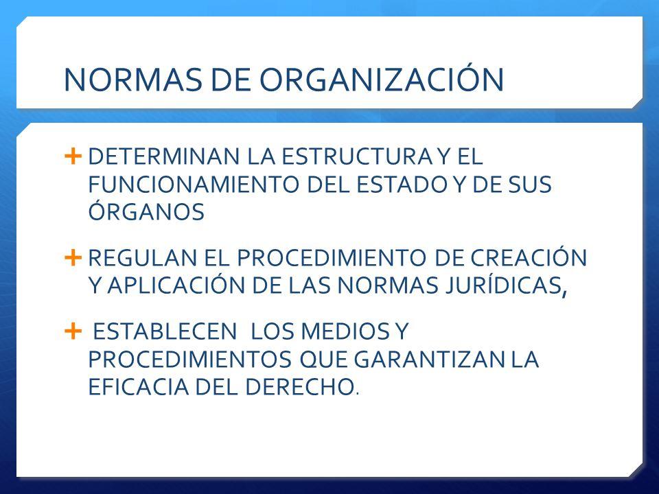 NORMAS DE ORGANIZACIÓN