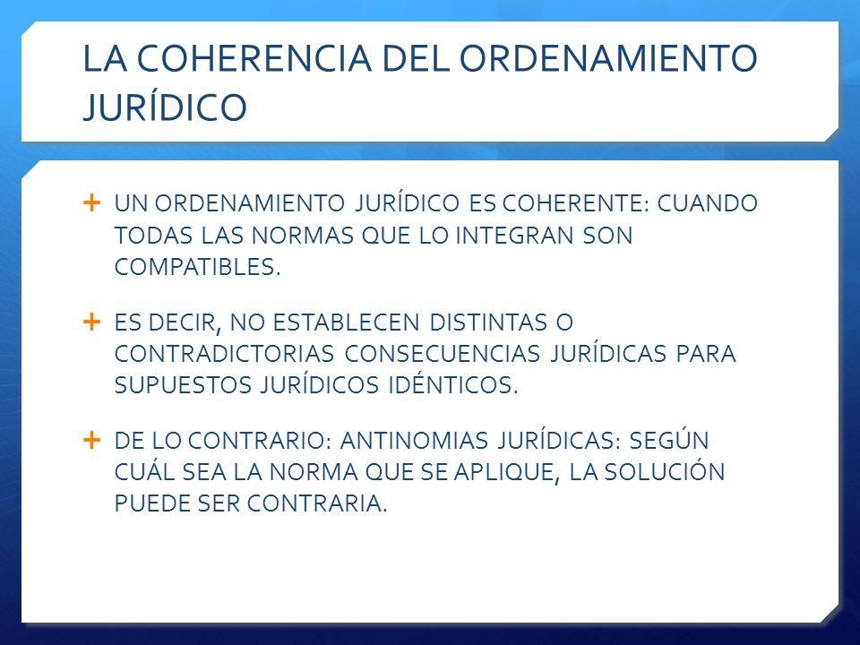 LA COHERENCIA DEL ORDENAMIENTO JURÍDICO