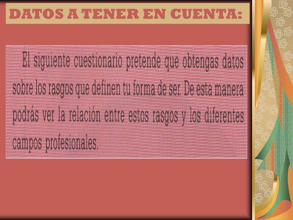 DATOS A TENER EN CUENTA: