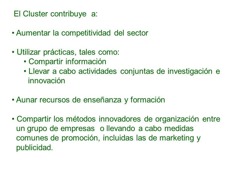 El Cluster contribuye a: