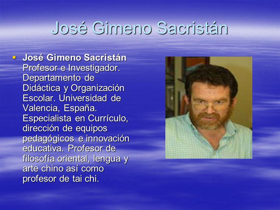 Jos gimeno sacrist n jos gimeno sacrist n profesor e for Universidad de valencia online