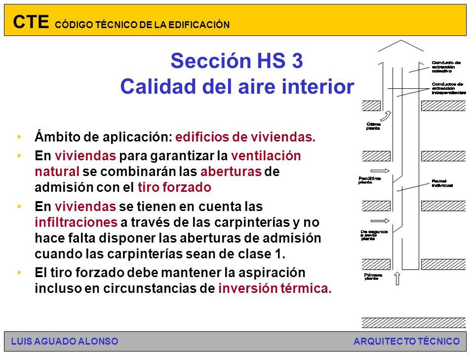 Sección HS 3 Calidad del aire interior