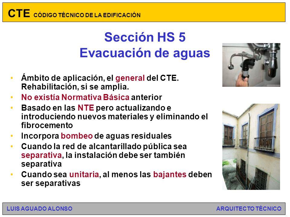 Sección HS 5 Evacuación de aguas