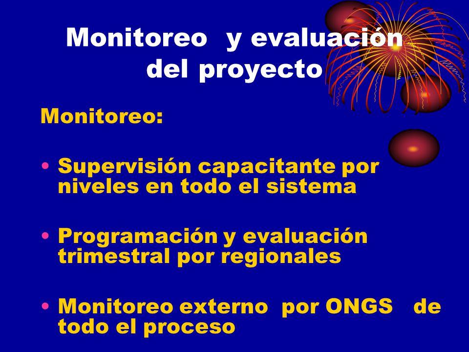 Monitoreo y evaluación del proyecto