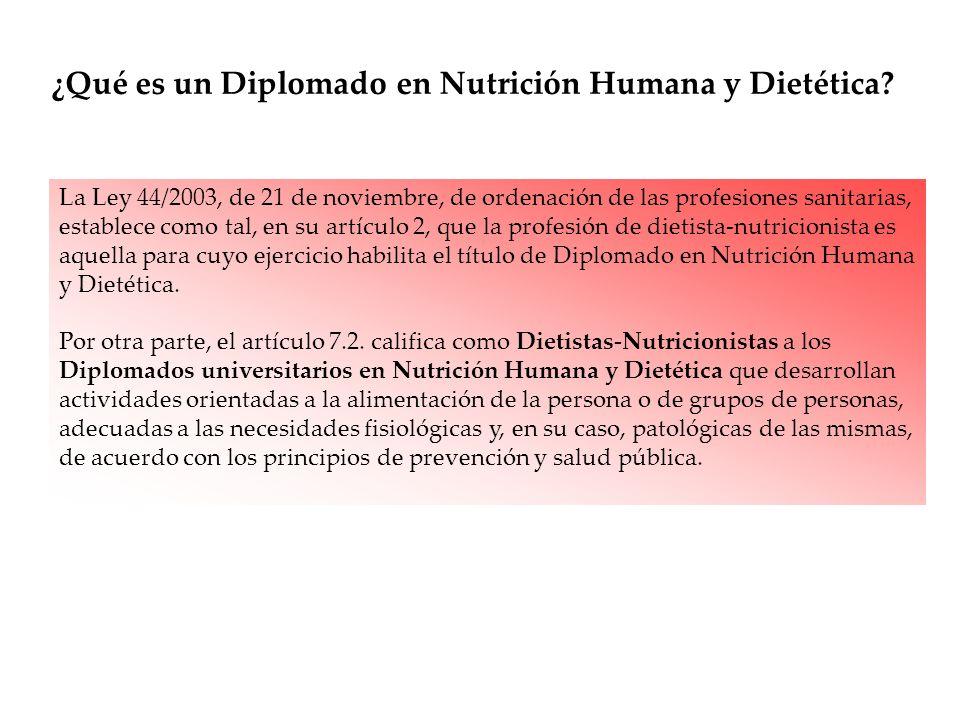 ¿Qué es un Diplomado en Nutrición Humana y Dietética