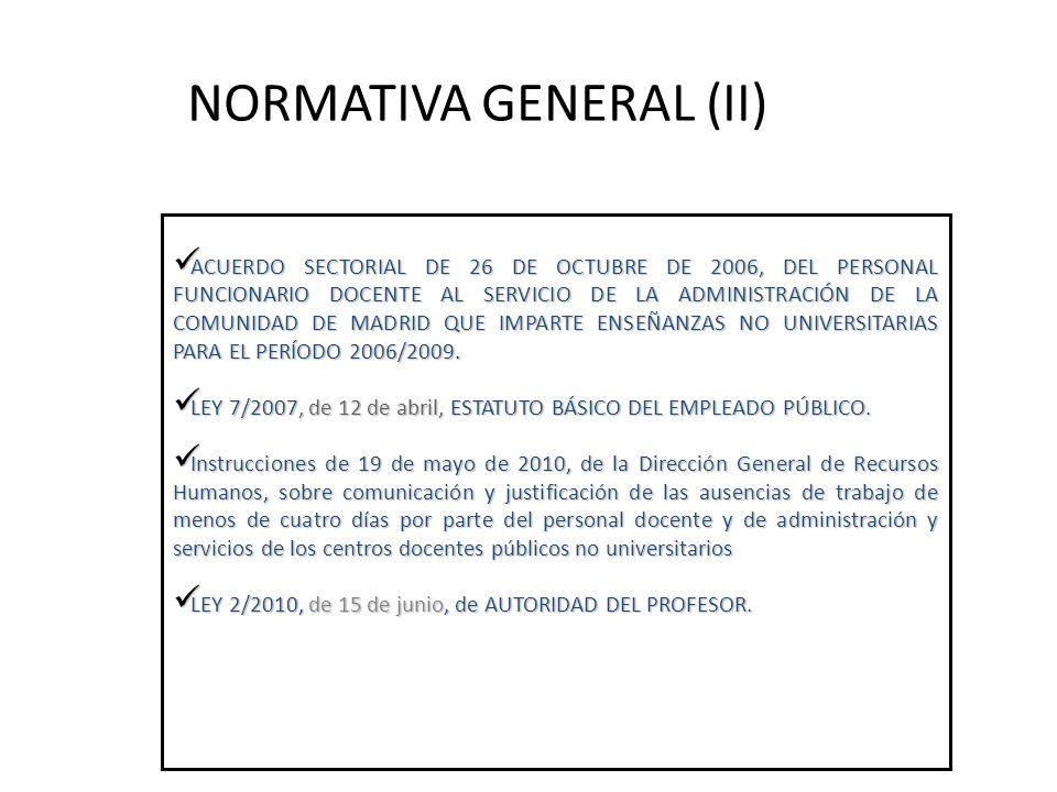 NORMATIVA GENERAL (II)