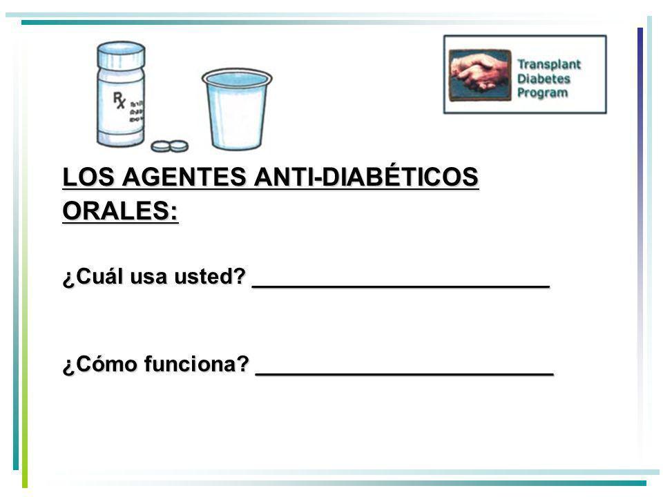 LOS AGENTES ANTI-DIABÉTICOS ORALES: