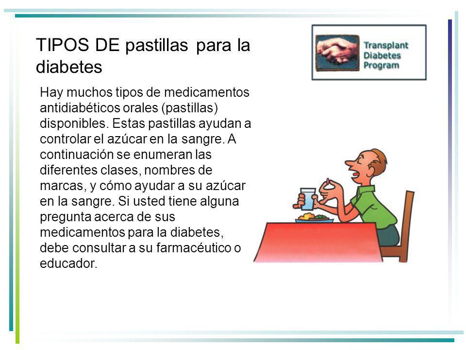 TIPOS DE pastillas para la diabetes