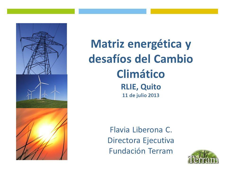 Matriz energética y desafíos del Cambio Climático