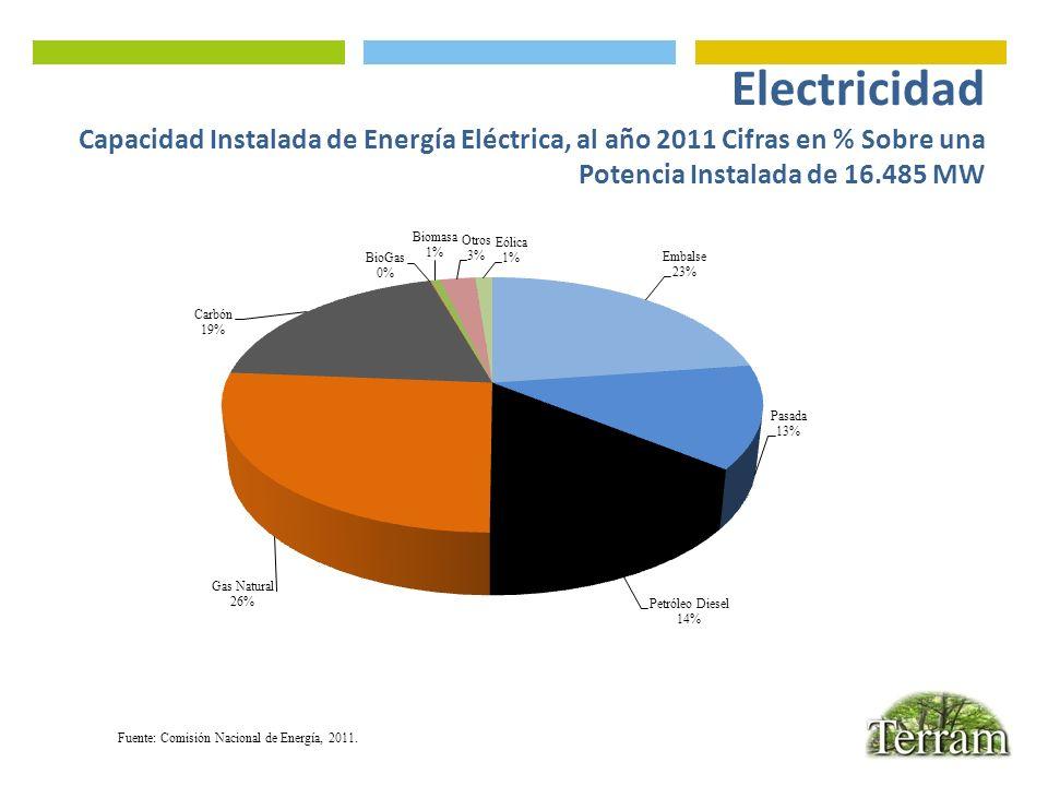 Fuente: Comisión Nacional de Energía, 2011.