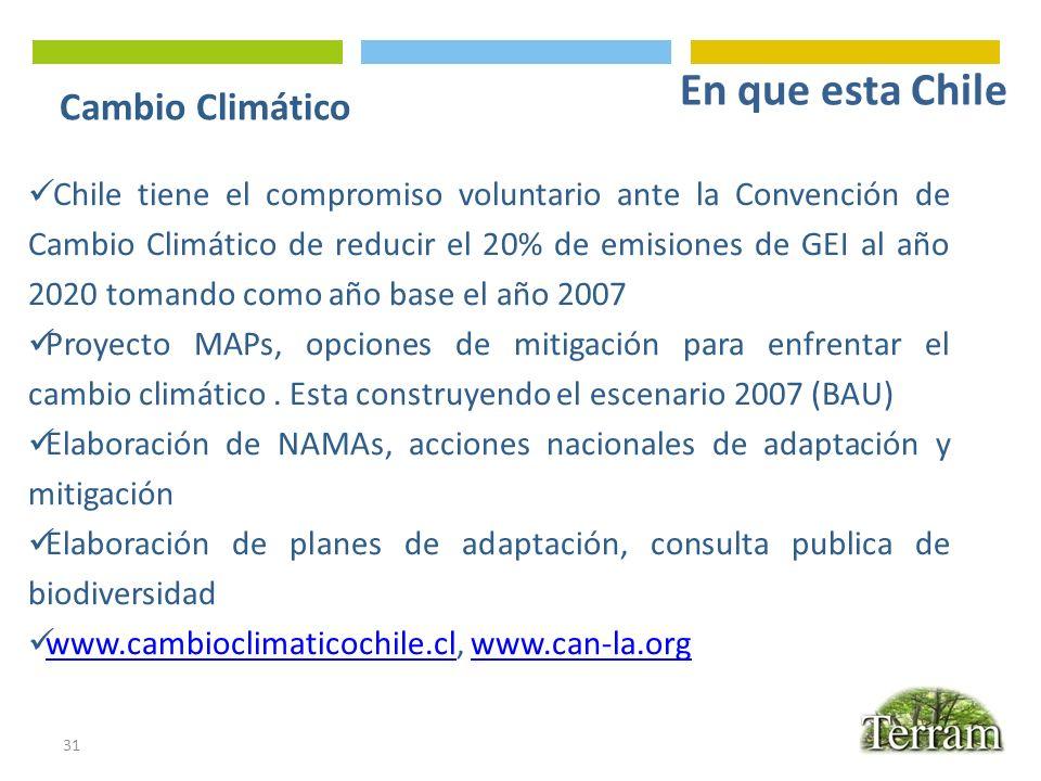 En que esta Chile Cambio Climático