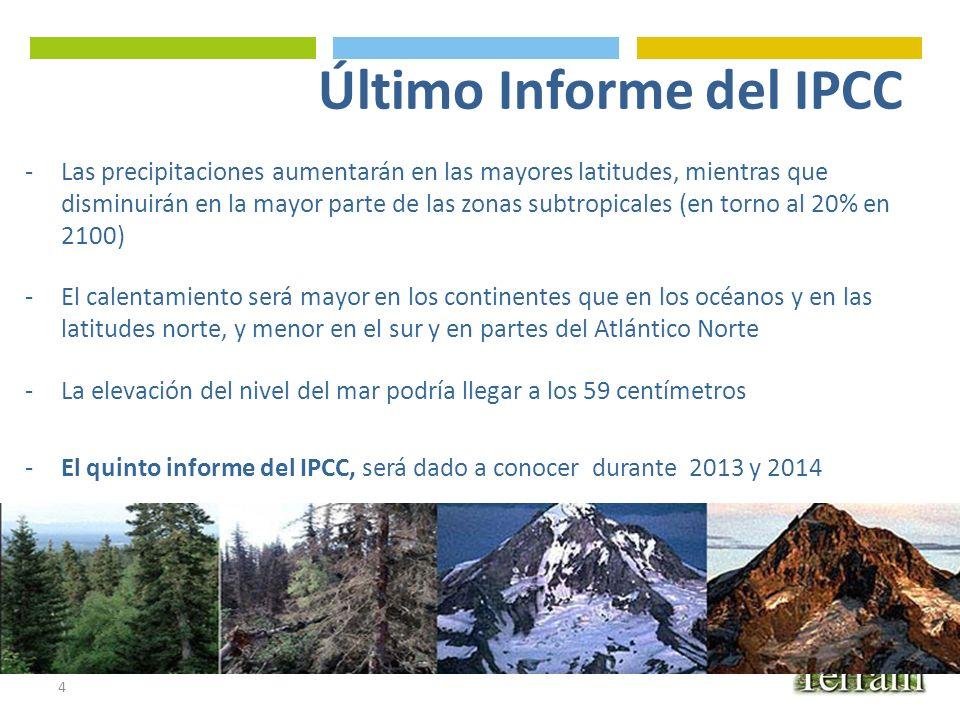 Último Informe del IPCC