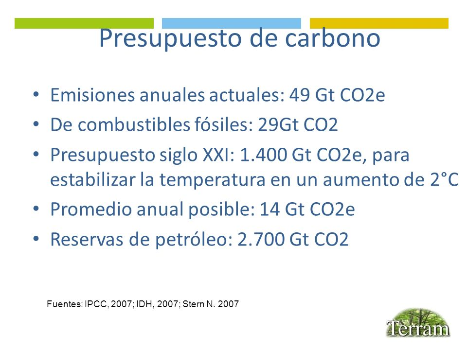 Presupuesto de carbono