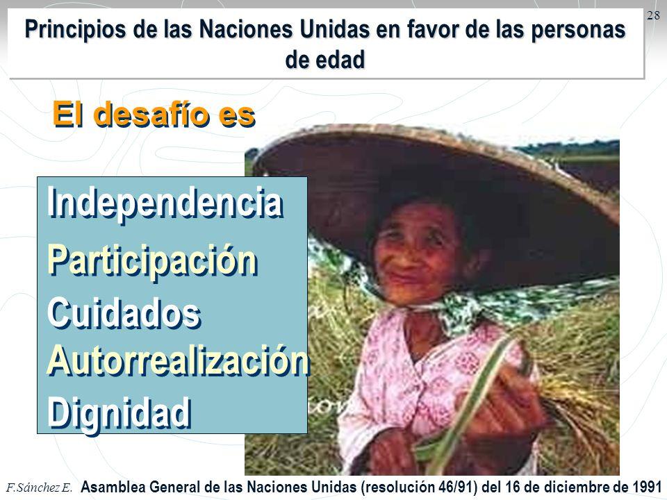 Principios de las Naciones Unidas en favor de las personas de edad