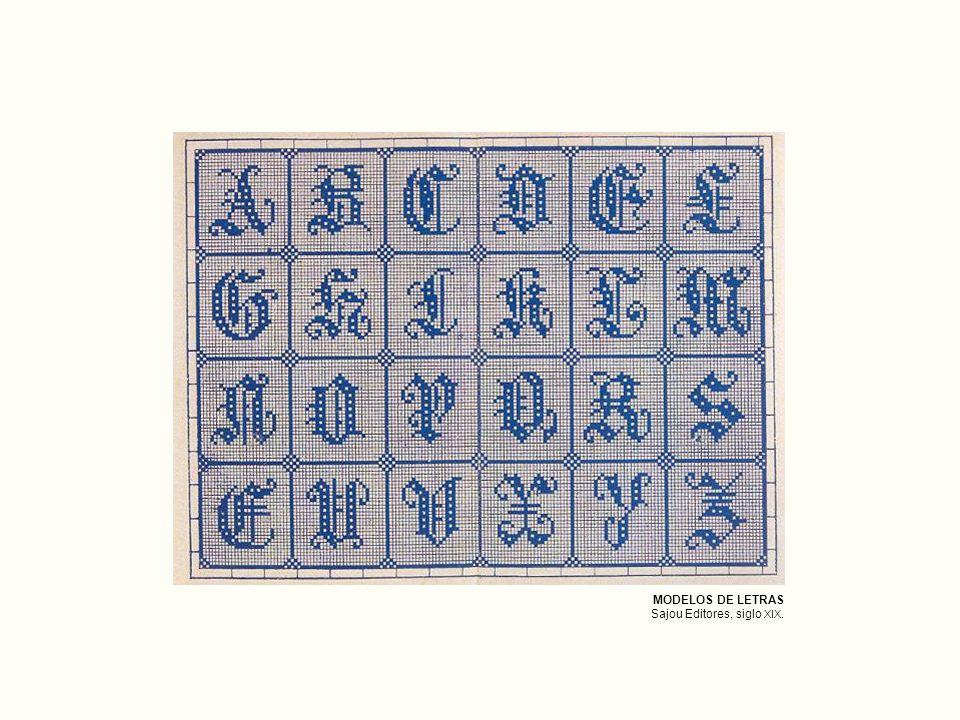 MODELOS DE LETRAS Sajou Editores, siglo XIX.