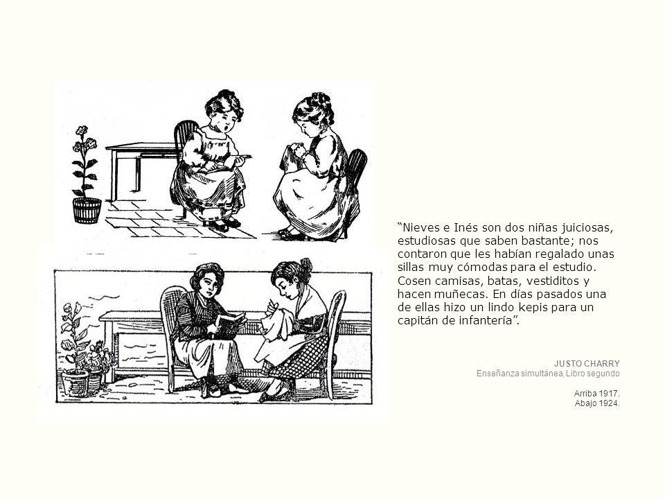 Nieves e Inés son dos niñas juiciosas, estudiosas que saben bastante; nos contaron que les habían regalado unas sillas muy cómodas para el estudio. Cosen camisas, batas, vestiditos y hacen muñecas. En días pasados una de ellas hizo un lindo kepis para un capitán de infantería .