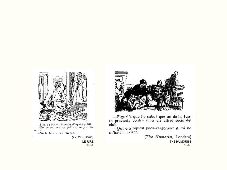 LE RIRE 1933. THE HUMORIST 1932.