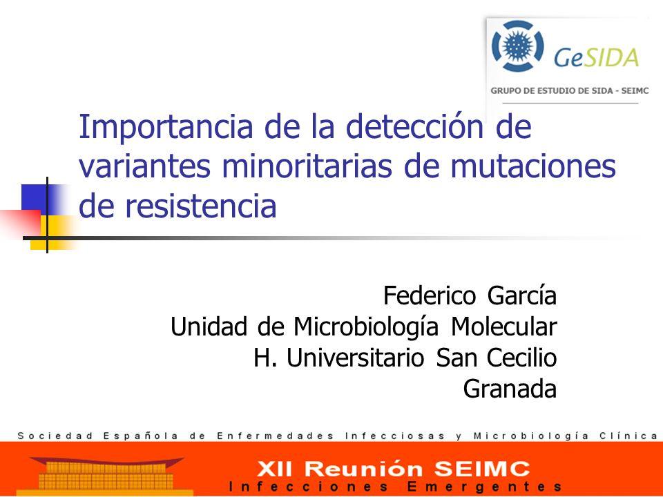 Importancia de la detección de variantes minoritarias de mutaciones de resistencia
