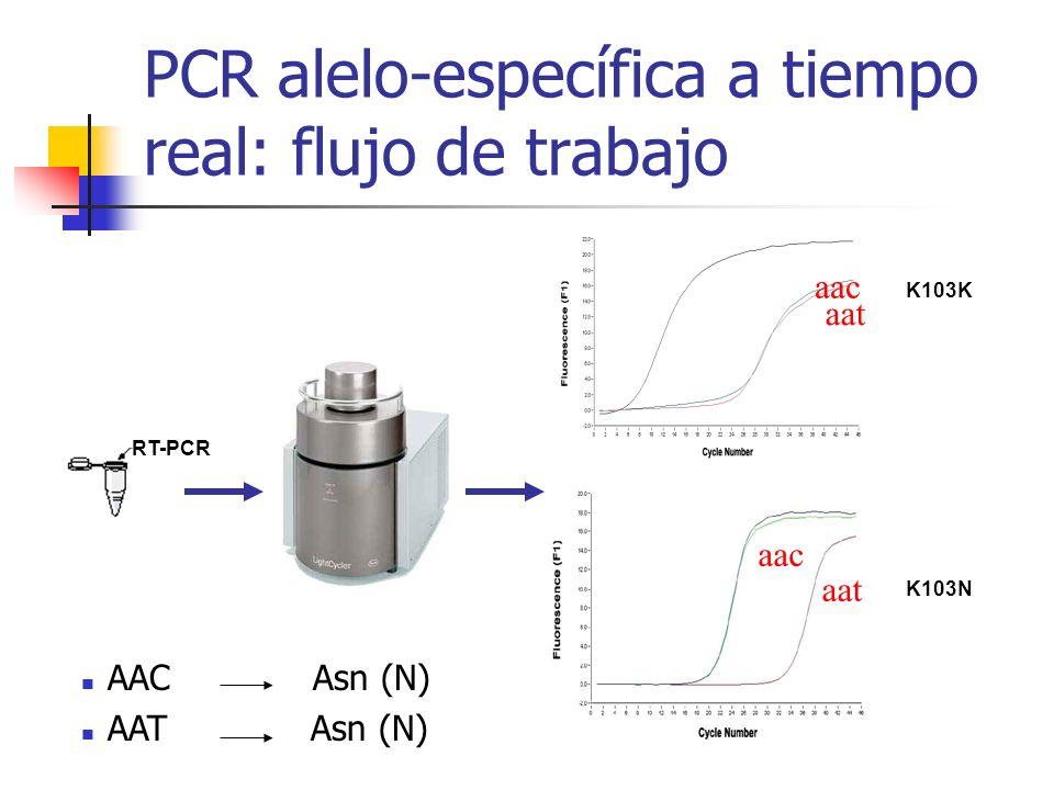PCR alelo-específica a tiempo real: flujo de trabajo