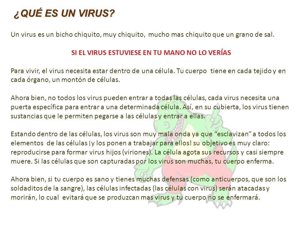 SI EL VIRUS ESTUVIESE EN TU MANO NO LO VERÍAS