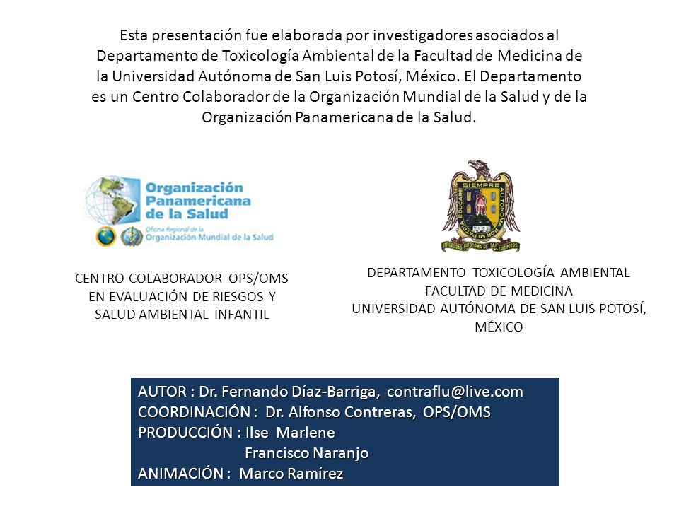 AUTOR : Dr. Fernando Díaz-Barriga, contraflu@live.com
