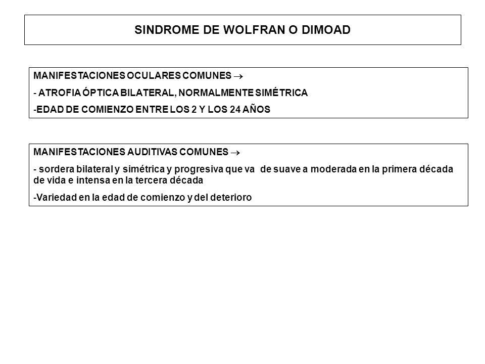 SINDROME DE WOLFRAN O DIMOAD