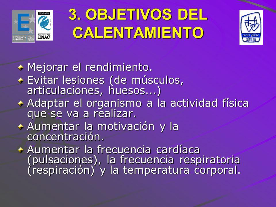 3. OBJETIVOS DEL CALENTAMIENTO