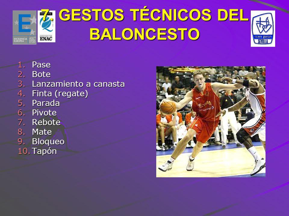 7. GESTOS TÉCNICOS DEL BALONCESTO
