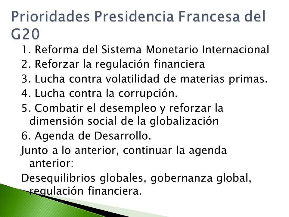 Prioridades Presidencia Francesa del G20