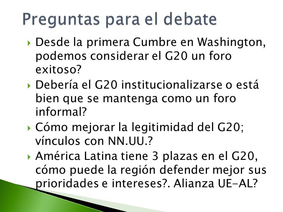 Preguntas para el debate