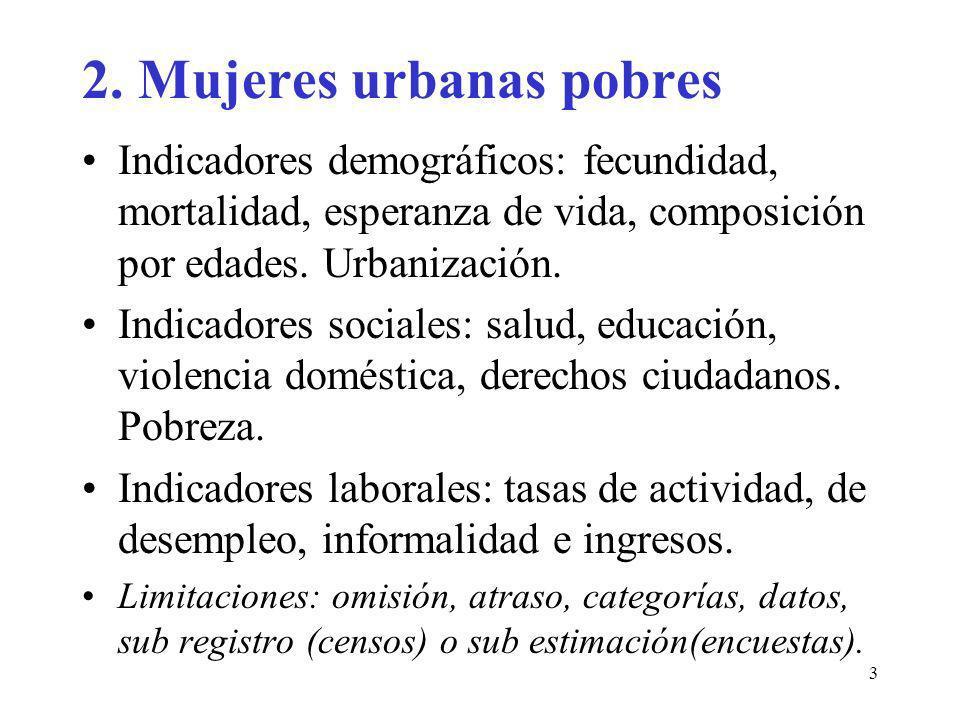 2. Mujeres urbanas pobres