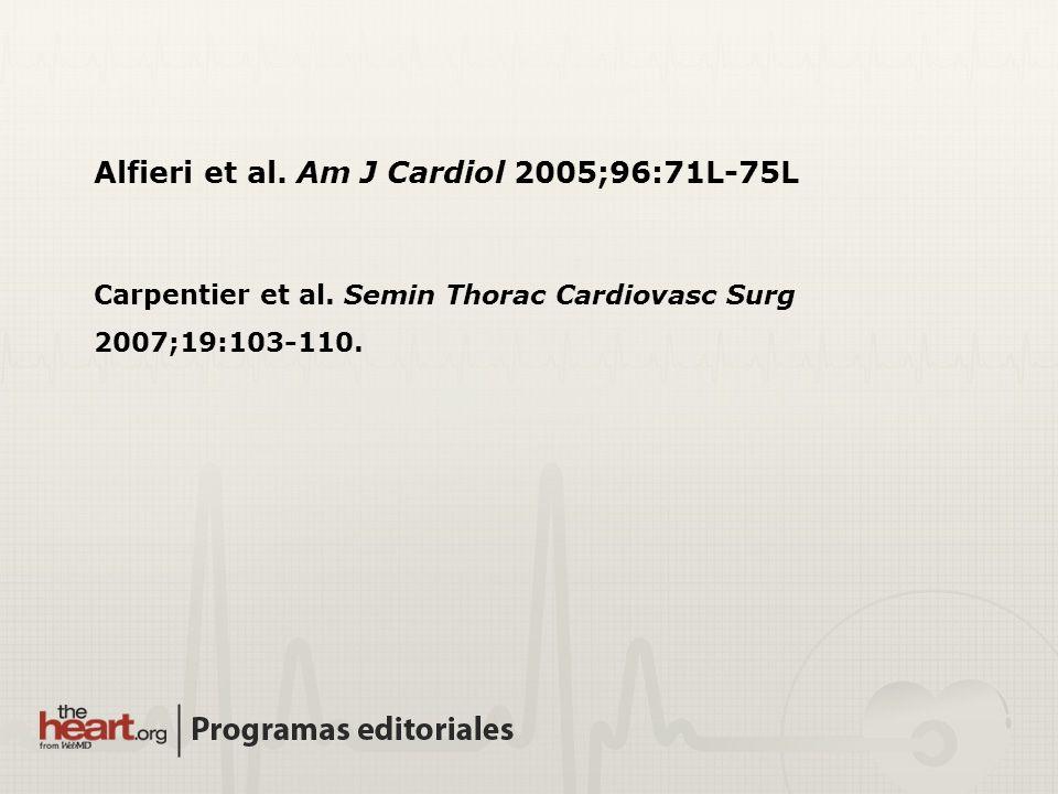 Alfieri et al. Am J Cardiol 2005;96:71L-75L