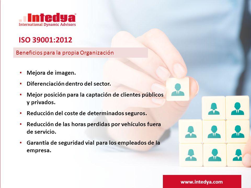 ISO 39001:2012 Beneficios para la propia Organización
