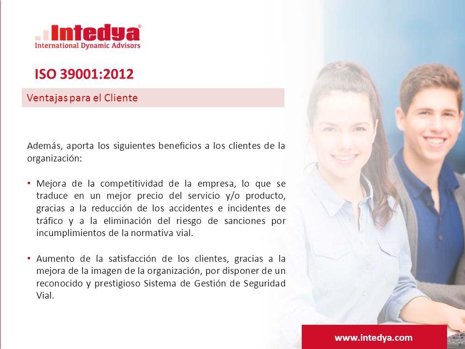 ISO 39001:2012 Ventajas para el Cliente
