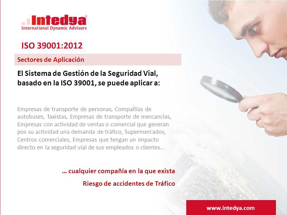 ISO 39001:2012 Sectores de Aplicación. El Sistema de Gestión de la Seguridad Vial, basado en la ISO 39001, se puede aplicar a: