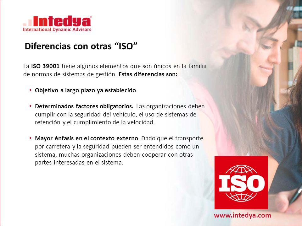 Diferencias con otras ISO
