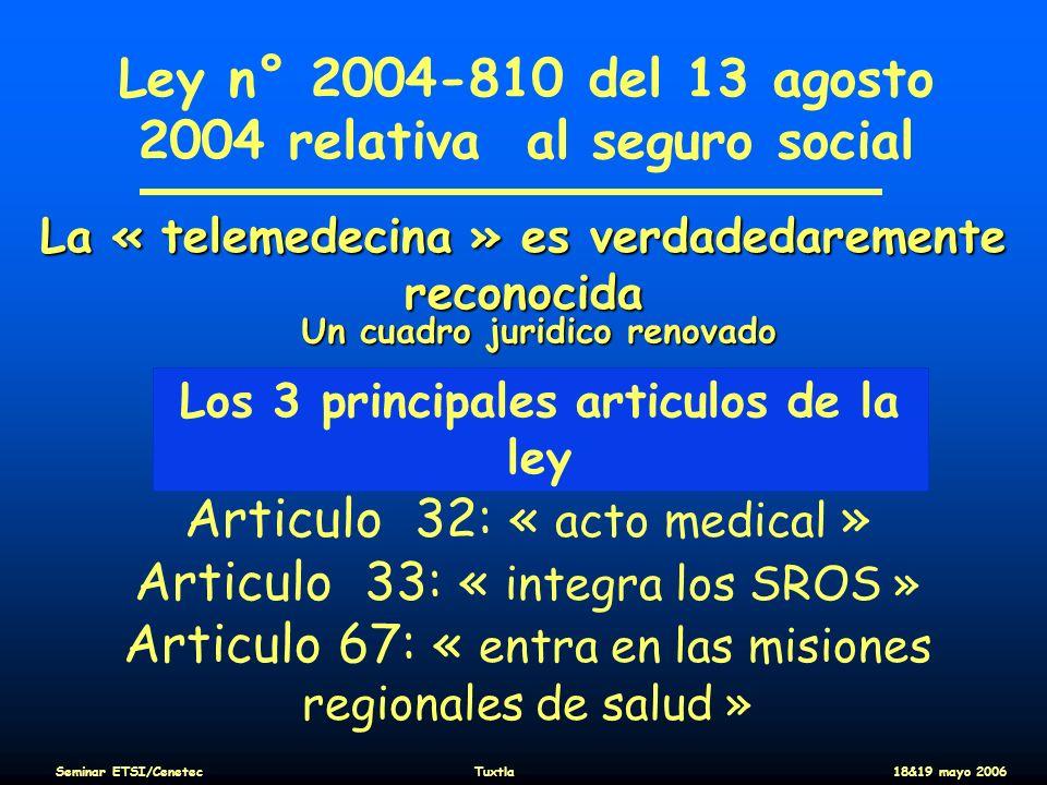 Ley n° 2004-810 del 13 agosto 2004 relativa al seguro social
