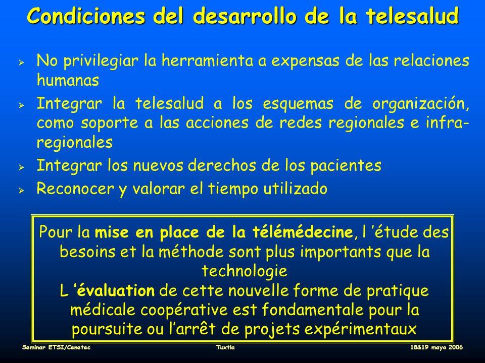 Condiciones del desarrollo de la telesalud