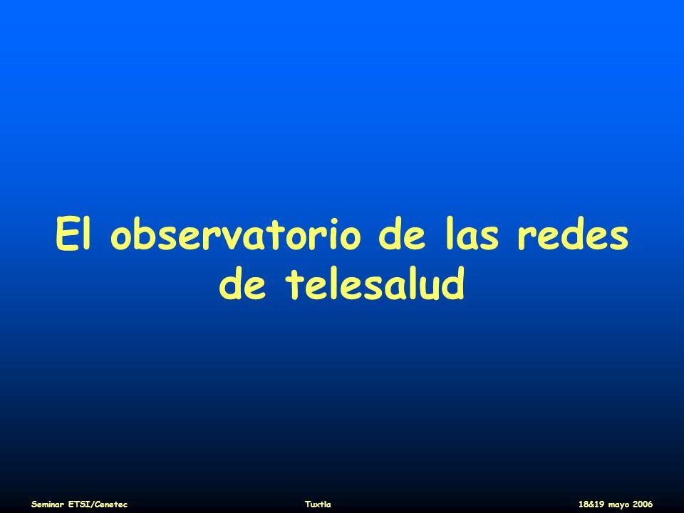 El observatorio de las redes de telesalud