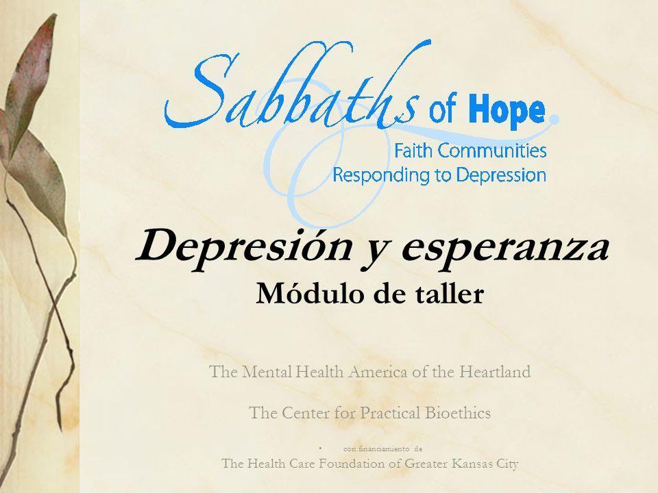 Depresión y esperanza Módulo de taller