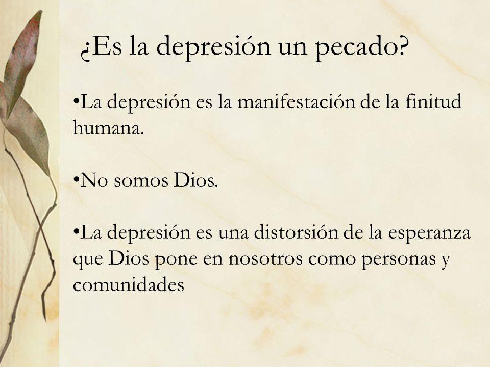 ¿Es la depresión un pecado