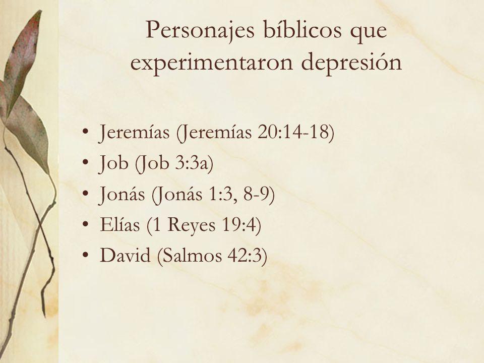Personajes bíblicos que experimentaron depresión