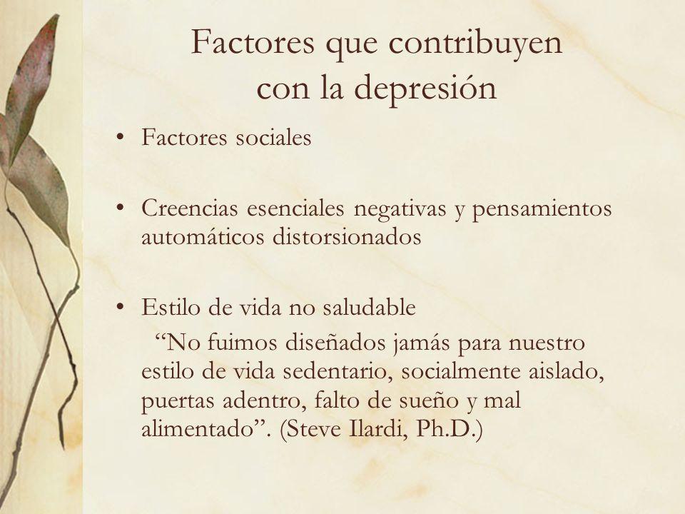 Factores que contribuyen con la depresión