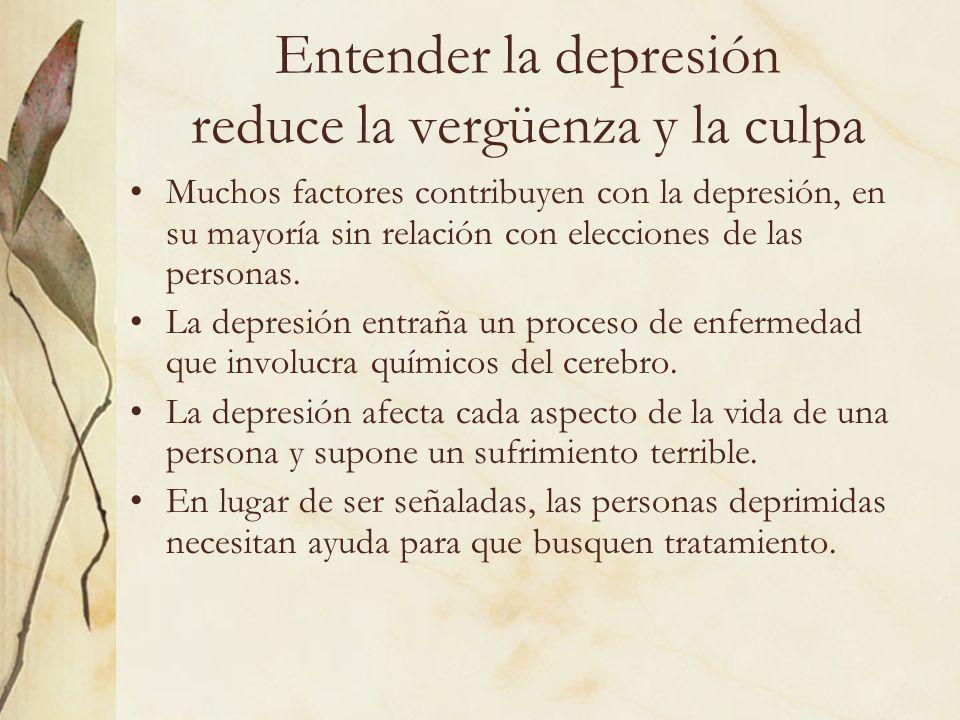 Entender la depresión reduce la vergüenza y la culpa