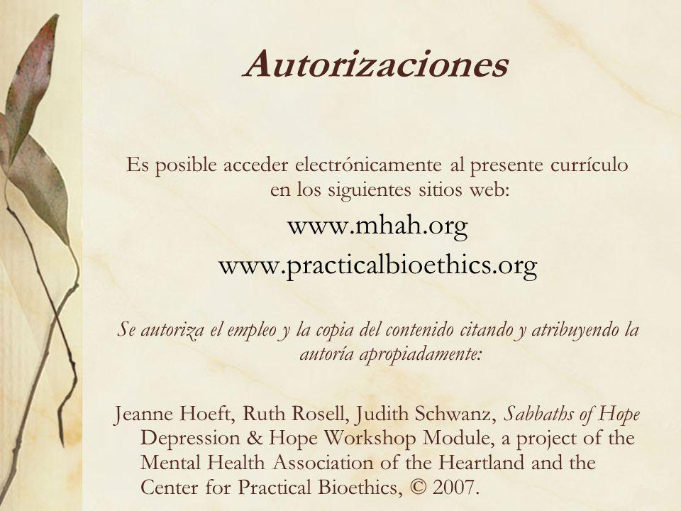 Autorizaciones www.mhah.org www.practicalbioethics.org