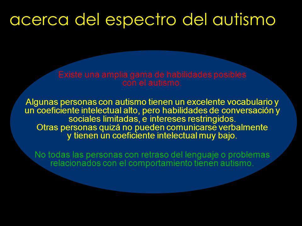 acerca del espectro del autismo
