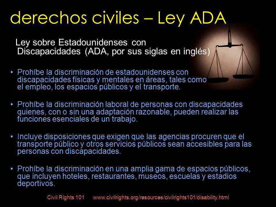 derechos civiles – Ley ADA