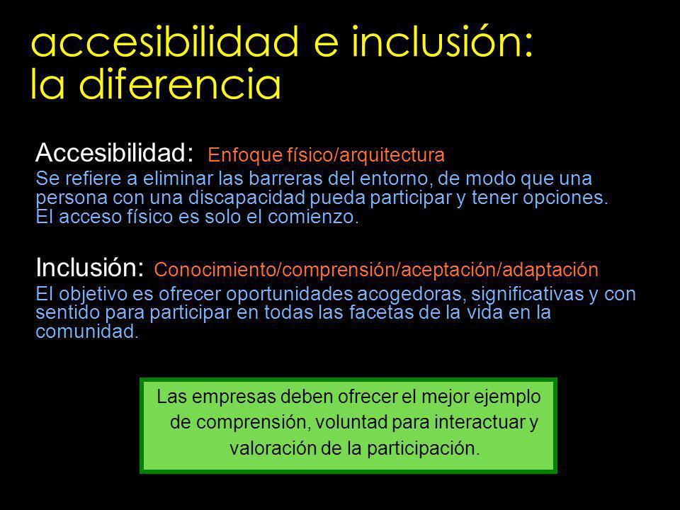 accesibilidad e inclusión: la diferencia