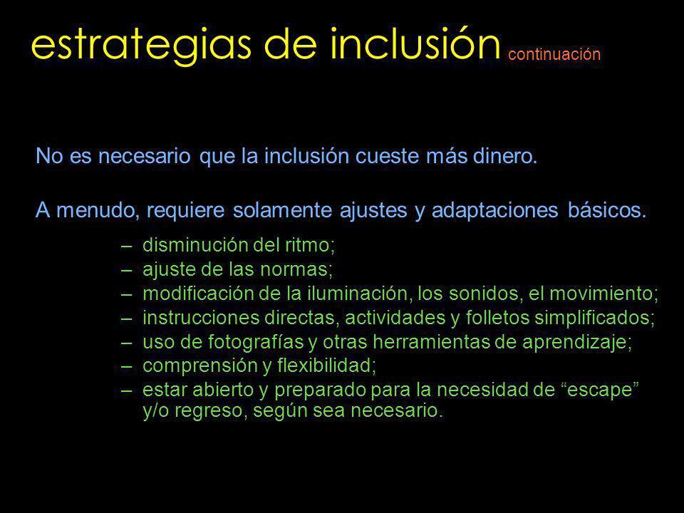 estrategias de inclusión